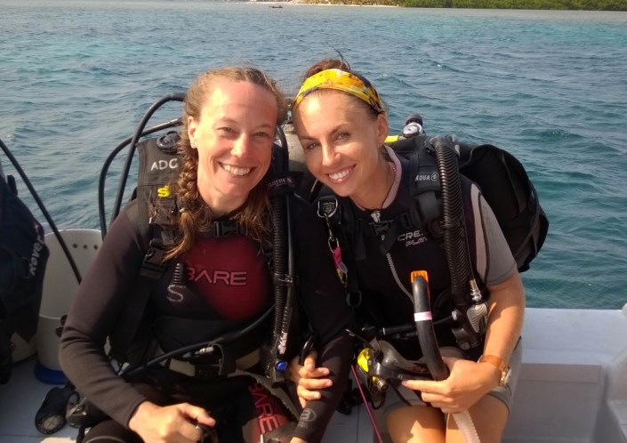 My instructor Shelly and I