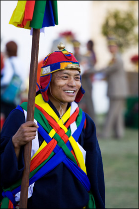 royal_guard_national_stadium_Thimphu_Bhutan.