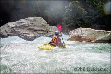 kayaker, white water, Bhutan