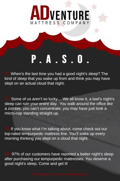 copywriting PASO example | ADventure Marketing
