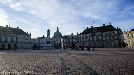 Amalienborg - dziedziniec wewnętrzny