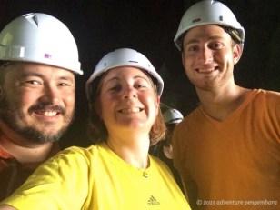 Helmet selfie at the Dark Cave!
