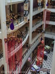 Deepavali decorations in KLCC mall corridors.