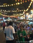 Food stalls on Jalan Alor. It's difficult to see, but it's nearly shoulder to shoulder in the streets.