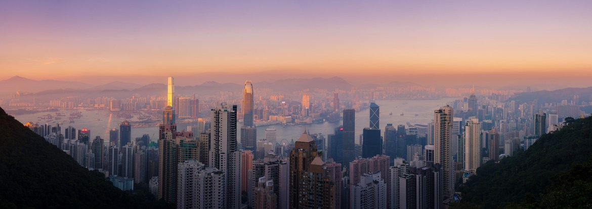 Hong Kong Central skyline from the Victoria Peak