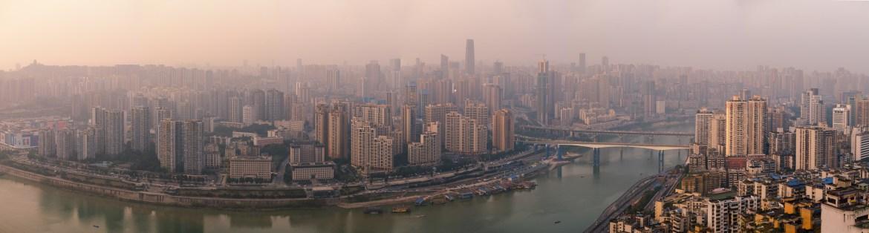 Chongqing Jianbei skyline panorama