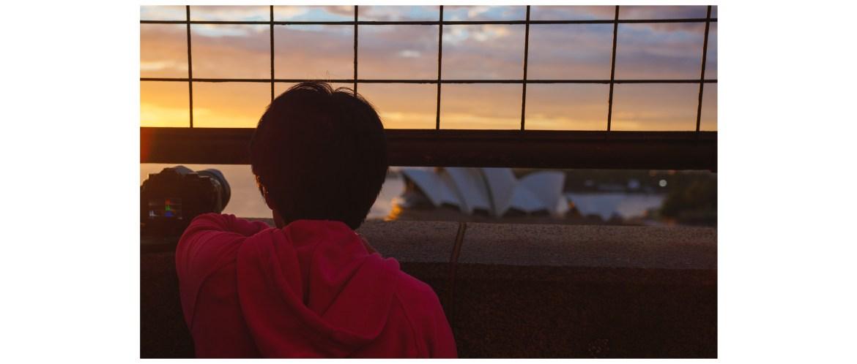 Photographing the Sydney sunrise