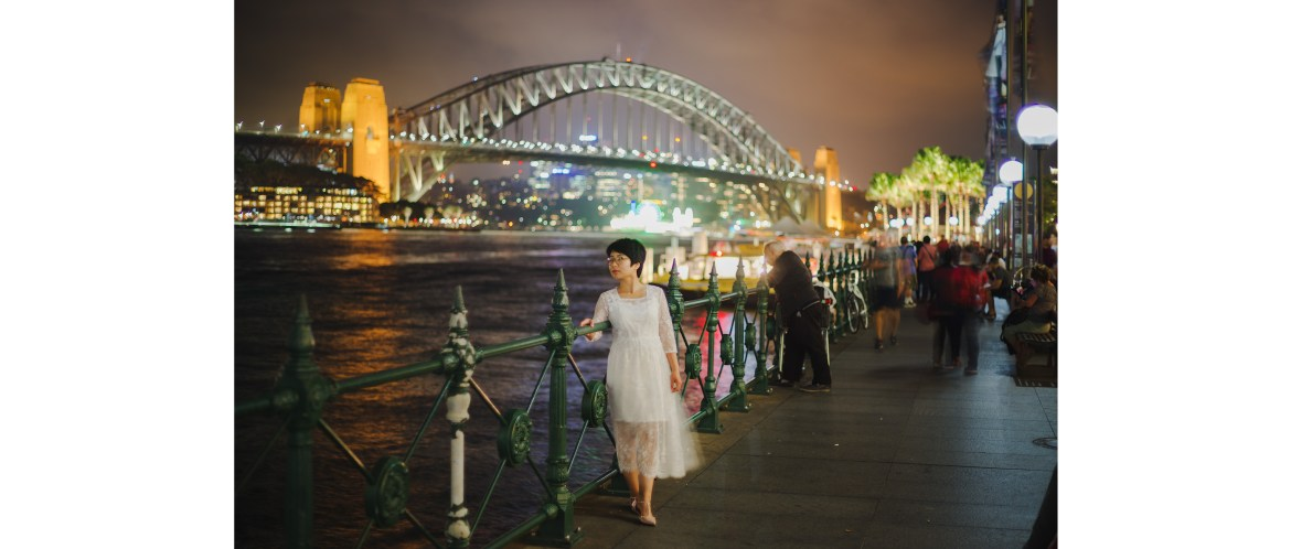 Circular Quay night portrait