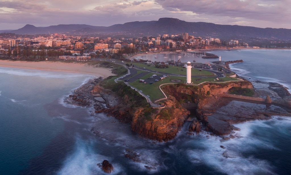 Aerial view of the Wollongong Lighthouse