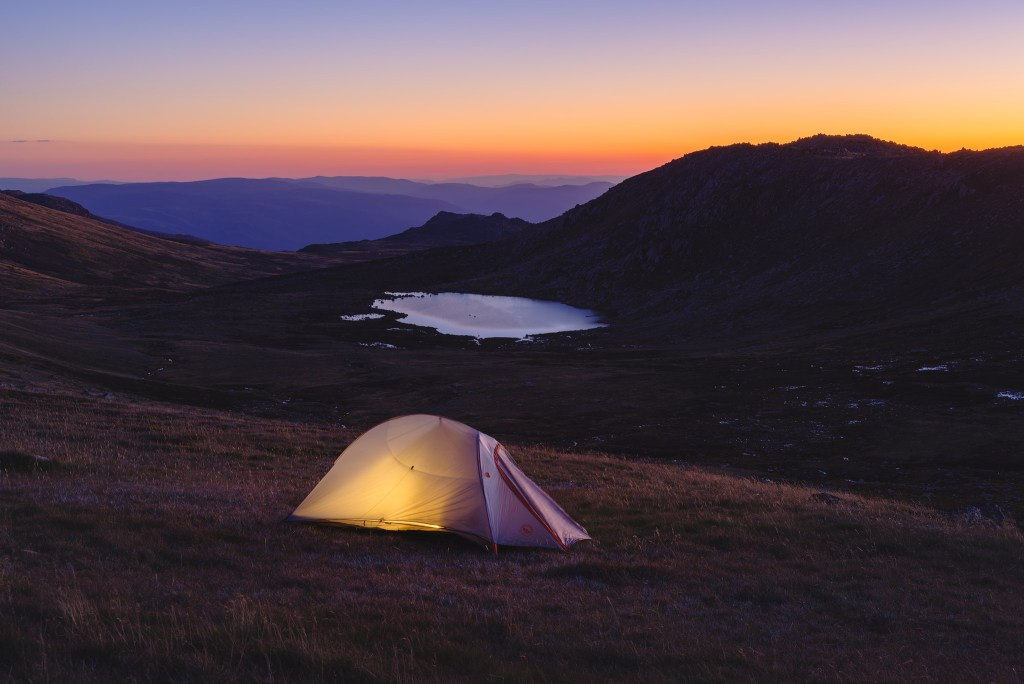 Camping near the Mount Kosciuszko summit