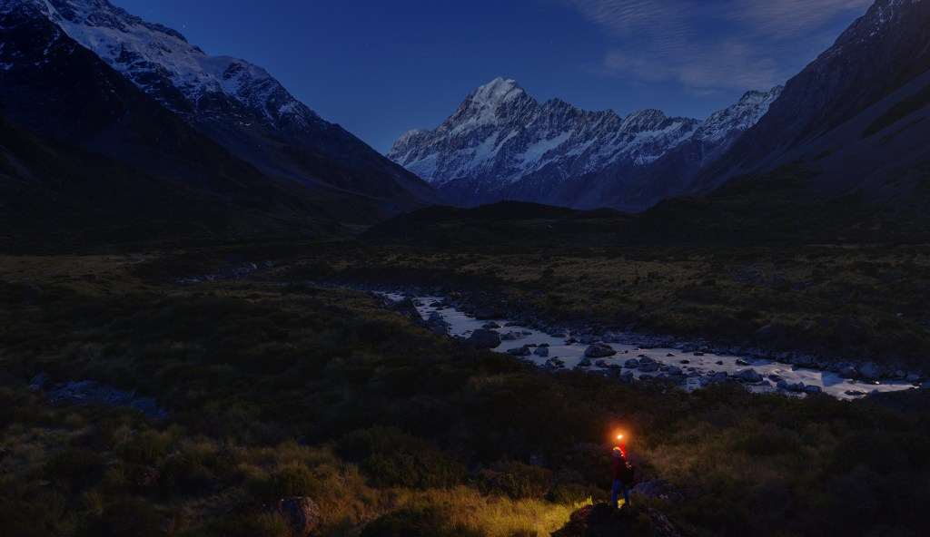 Mount. Cook under moonlight