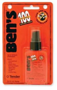 Ben's 95% DEET bug spray will protect you in the 100 Mile WIlderness. Available at REI.
