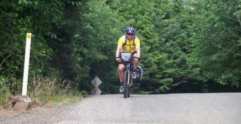 long distance touring cyclist