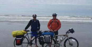 dip tires in pacific ocean before cycling across America