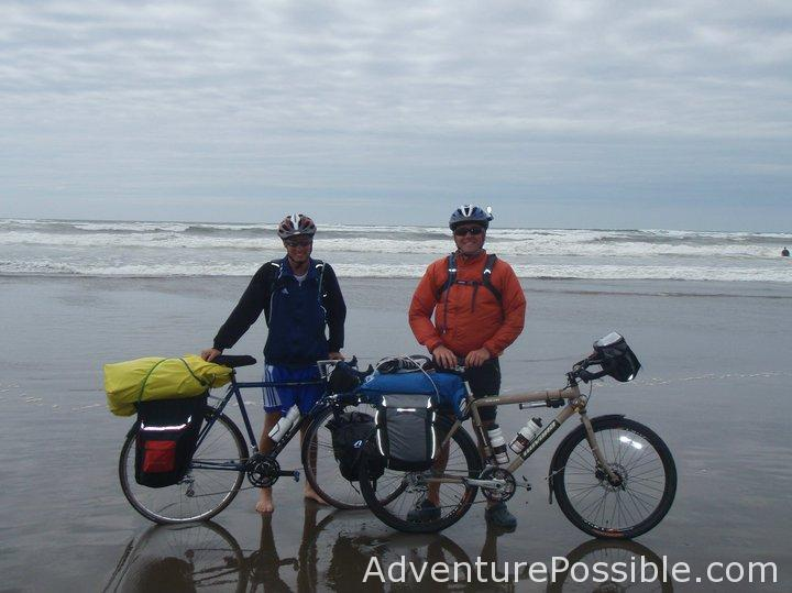 dip tires in pacific ocean before cycling across America