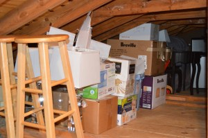 store stuff in attic before adventure travel