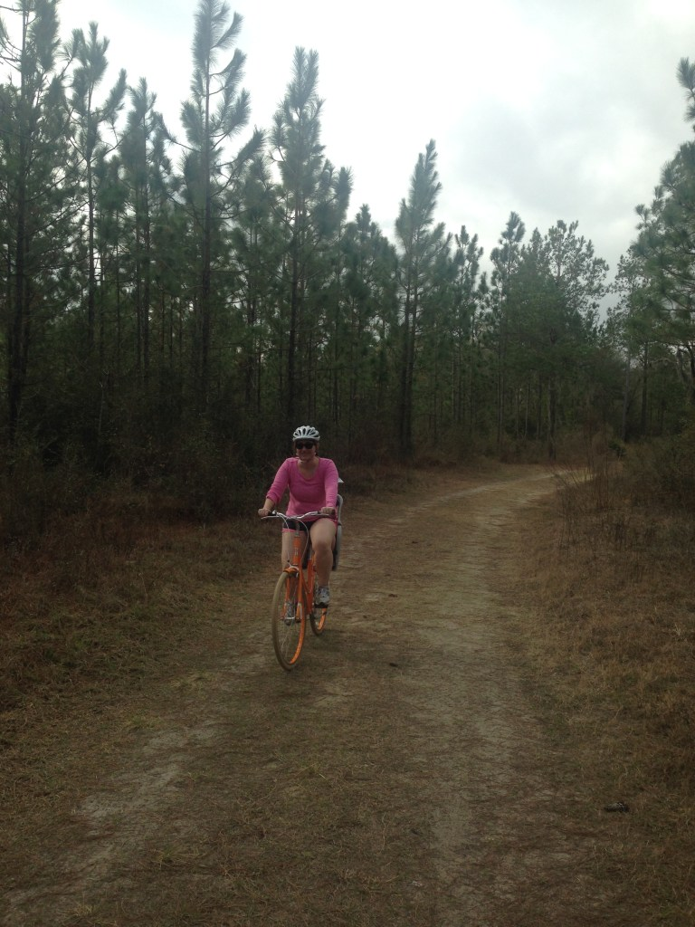 Biking the multi-use trail at Stephen Foster State Folk Center