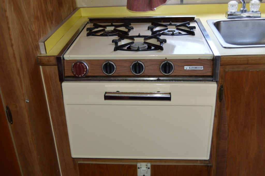 The original airstream gas range and oven