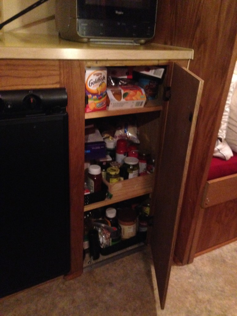 The pantry built in place of the furnace