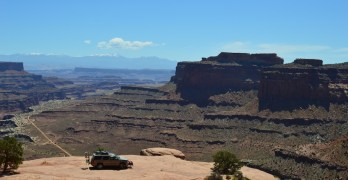 Off-Road Driving Through Canyonlands National Park, Utah