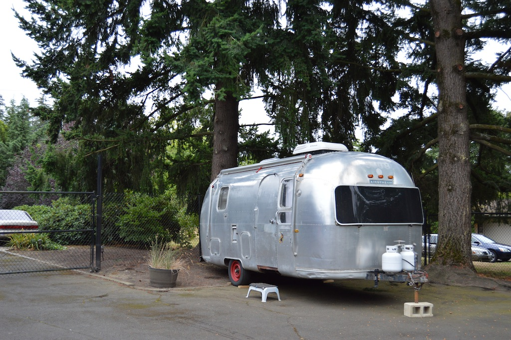 The Airstream put up for two weeks.