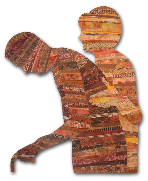 Caring, an art quilt by Ellen Lindner. AdventureQuilter.com