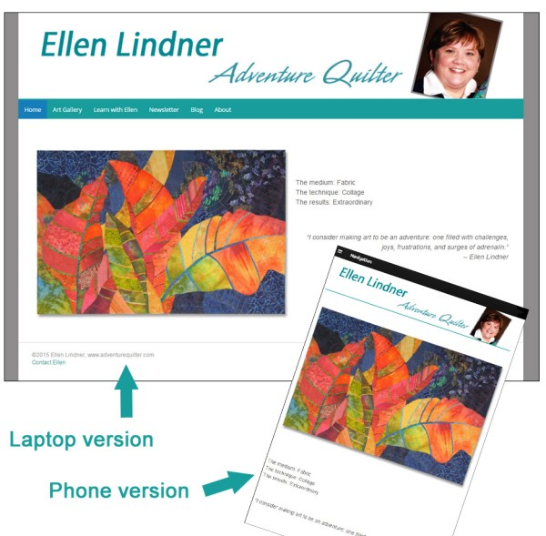 Ellen Lindner. AdventureQuilter.com/blog