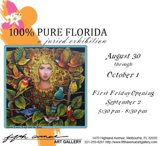 100% Pure Florida exhibit flyer.