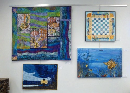 Fiber art exhibit in Melbourne, FL. Ellen Lindner, AdventureQuilter.com/blog