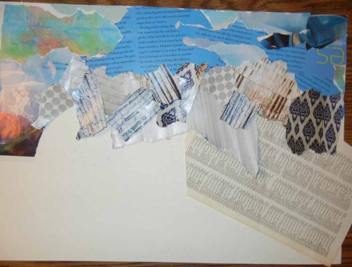 Loosen Up with Torn Paper Collage. Ellen Lindner, AdventureQuilter.com
