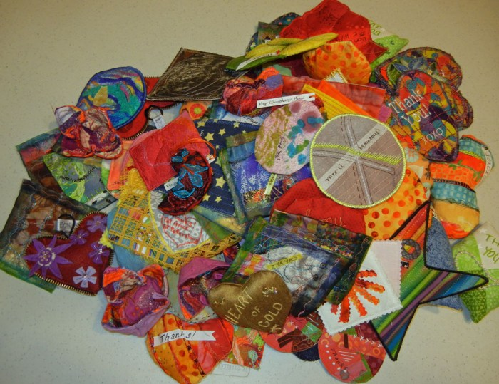 Fabric cookies on Ellen Lindner's blog: AdventureQuilter.com/blog