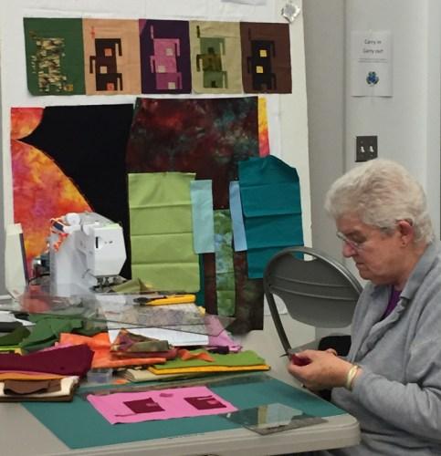 QBL Classmates at Work. Ellen Lindner, AdventureQuilter.com/blog