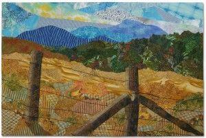 Mountain Meadow, an art quilt by Ellen Lindner. AdventureQuilter.com