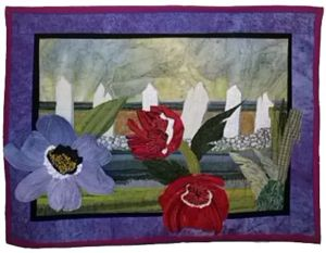 Poppies, by Barbara Fyffe, created in a class with Ellen Lindner. AdventureQuilter.com
