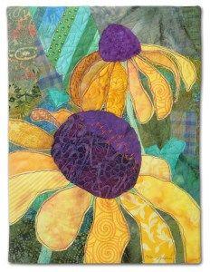 A Garden for Peggy, an art quilt by Ellen Lindner. AdventureQuilter.com