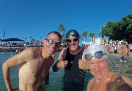Die Schwaben-WG beim Morning Swim
