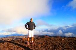 Onkel Jörgi auf dem Gipfel des Mauna Kea