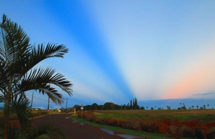 Abendhimmel über Kalaheo