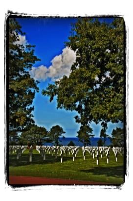 Cementerio americano sobre Omaha Beach