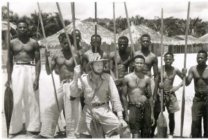 Goddard with tribespeople.