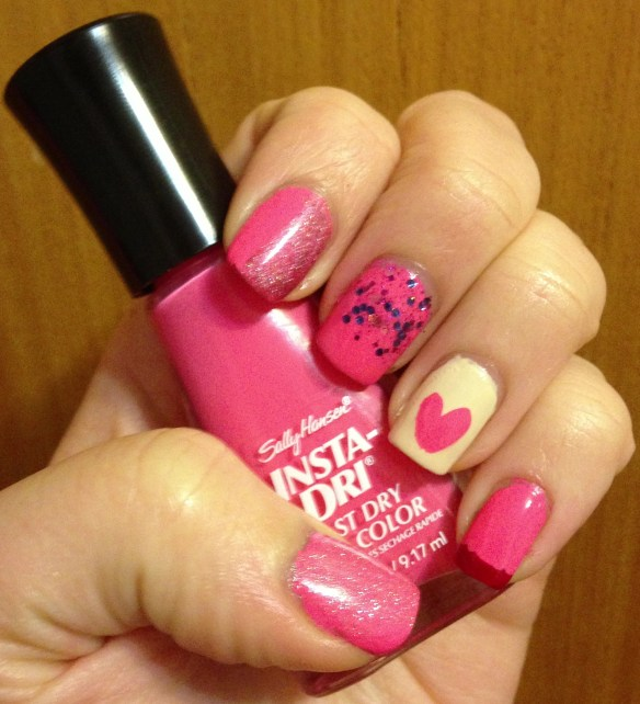 Valentine's Day Skittle Manicure | Adventures in Polishland