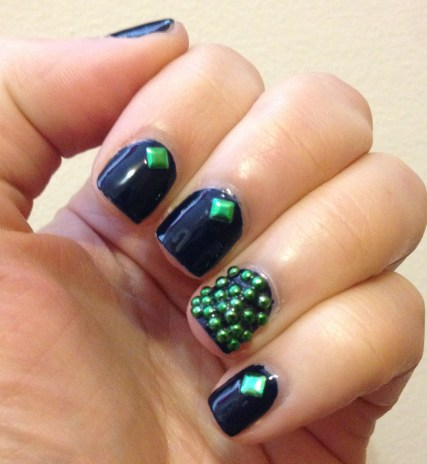 Simple Fall Manicure featuring Born Pretty Store Studs | Adventures in Polishland