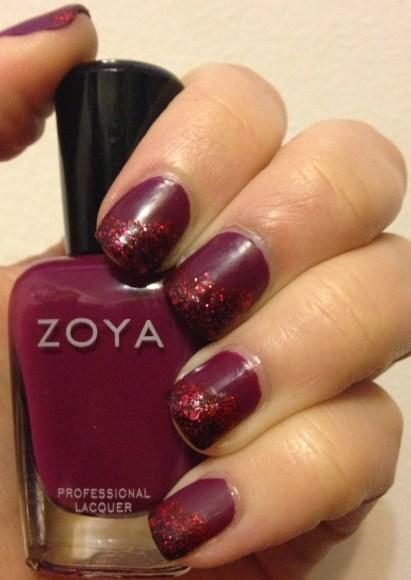 Zoya Matte Cloud Nail Art