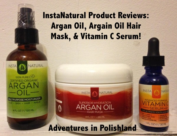 InstaNatural Product Reviews | Argan Oil, Argan Oil Hair Mask, & Vitamin C Serum