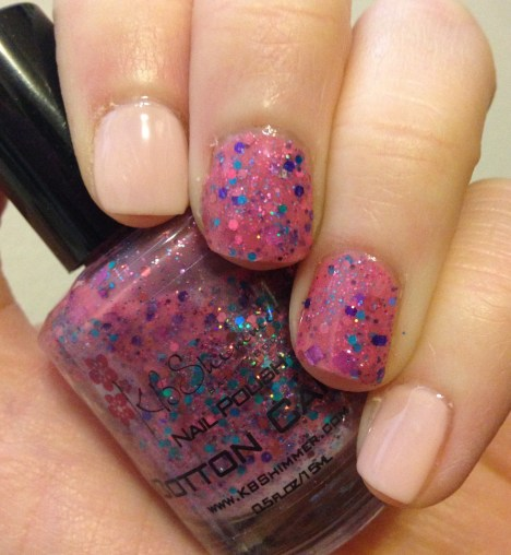 Manicure Monday | Julep Jennifer + KBShimmer Cotton Candy