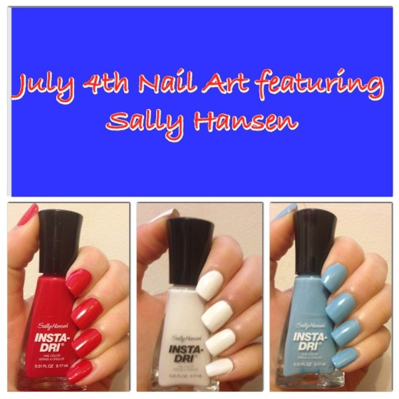 July 4th Nail Art featuring Sally Hansen Insta-Dri!