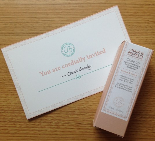 Christie Brinkley Authentic Skincare | Close Up Instant Wrinkle Reducer and Treatment Review