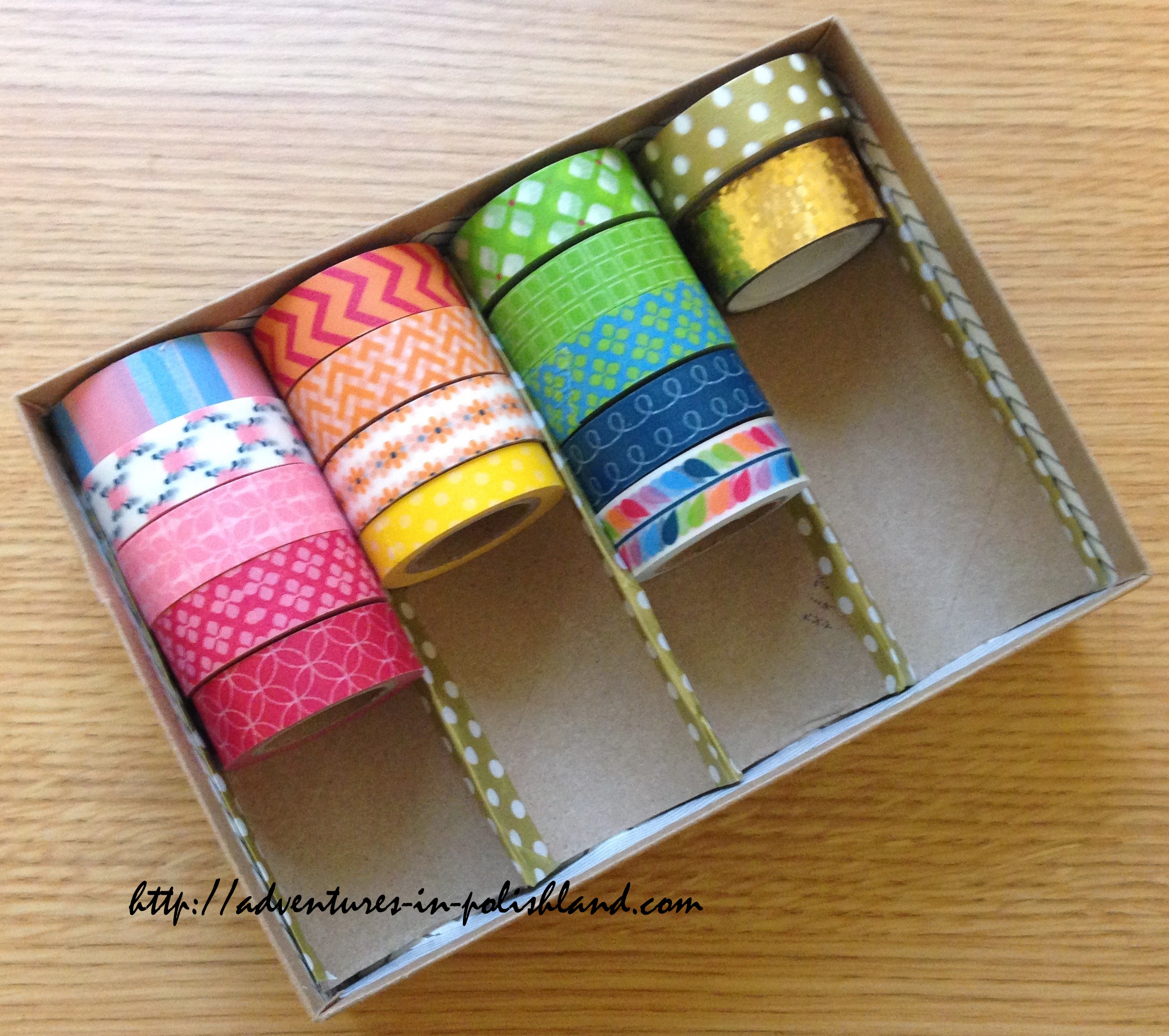 diy washi tape storage birchbox upcycling project planwithpolishland adventures in polishland. Black Bedroom Furniture Sets. Home Design Ideas