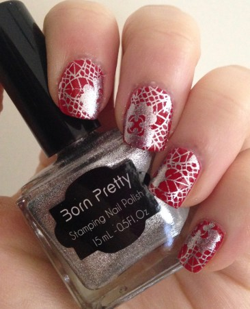 Holiday Lace Nail Art   Adventures in Polishland