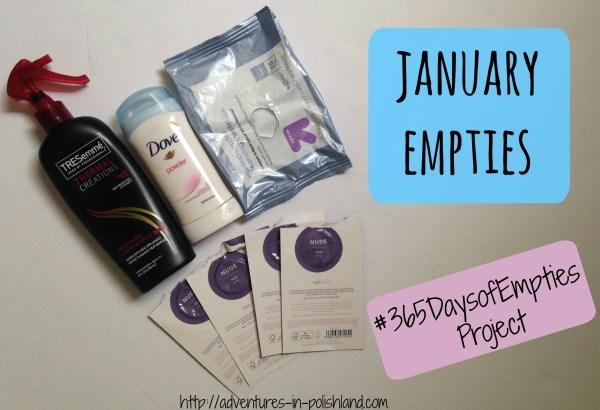 January Empties | #365DaysofEmpties Project